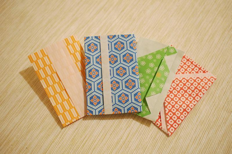 ハート 折り紙:お年玉袋 折り紙-mamagirl.jp