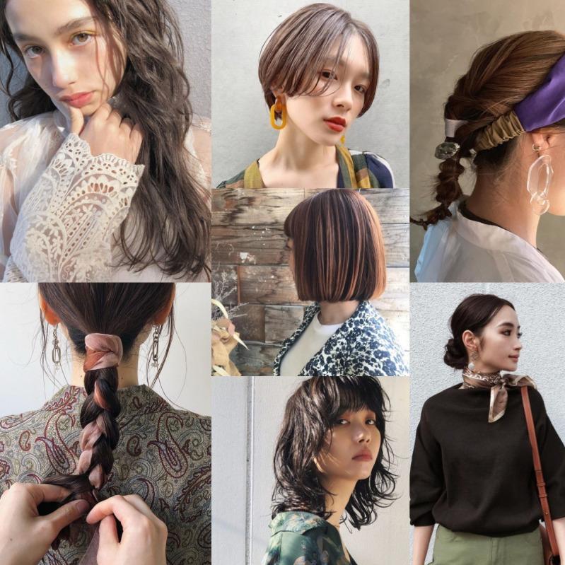 の 髪型 女性 流行り
